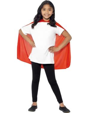 Jubah superhero merah untuk kanak-kanak