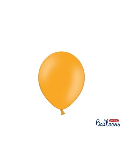100 globos extra resistentes naranja claro pastel (23 cm)