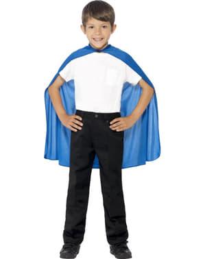 Cape couleur bleue enfant