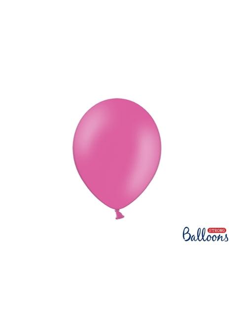 50 balões extra resistentes cor-de-rosa choque metalizado (23 cm)