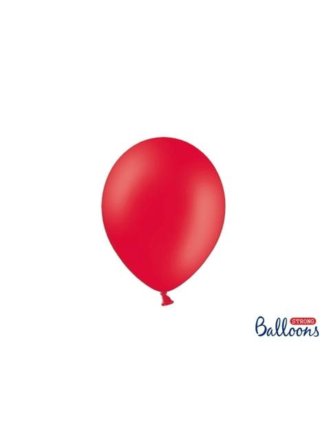 100 Luftballons extra stark pastell-korallenrot (23 cm)