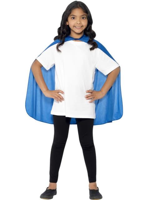 Blauwe cape superheld voor jongens