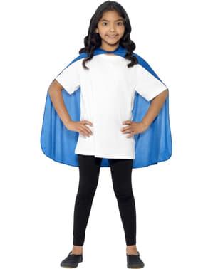 Cape blå för barn