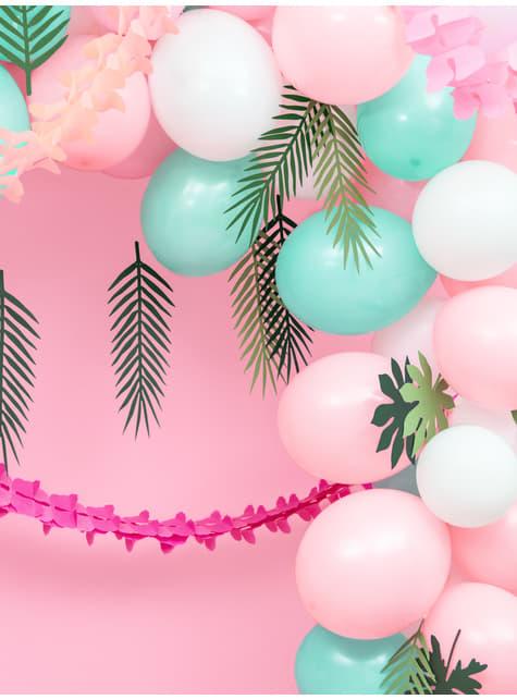100 silných balónků v bílé barvě, 23 cm