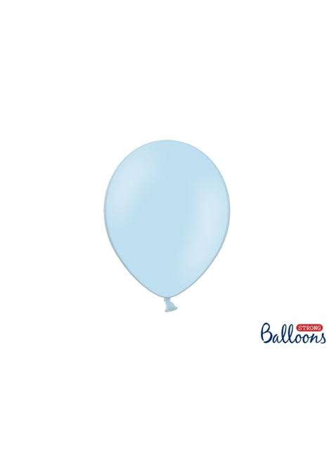 100 silných balónků v modré pastelové barvě, 23 cm