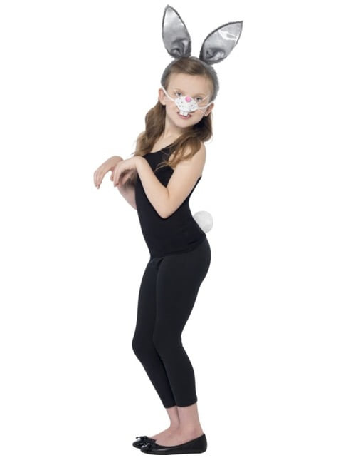 Bunny costume kit for a girl