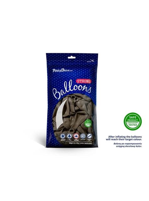 50 globos extra resistentes marrón claro pastel (23 cm)