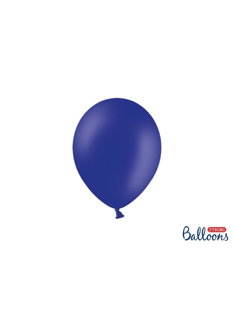 100 globos extra resistentes azul eléctrico metalizado (23 cm)