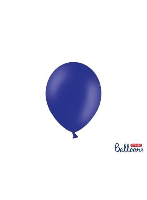 50 balões extra resistentes azul elétrico  metalizado (23 cm)