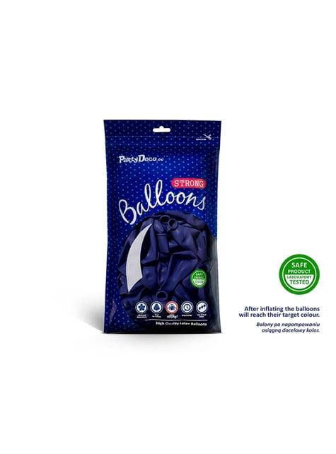 50 globos extra resistentes azul eléctrico metalizado (23 cm)