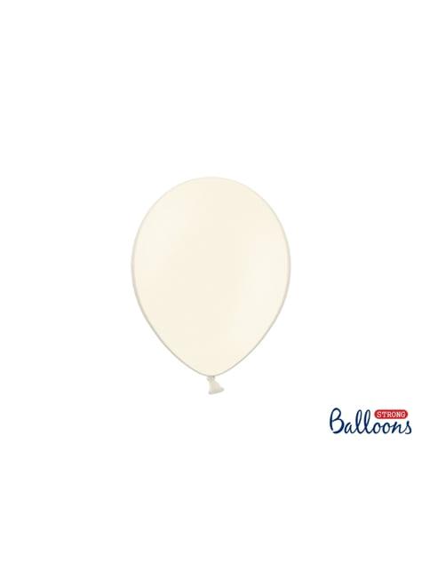 100 silných balónků v béžové pastelové barvě, 23 cm