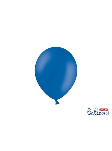 100 silných balónků v matně modré pastelové barvě, 23 cm