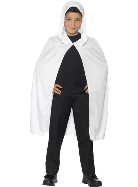 Biała peleryna dla dzieci