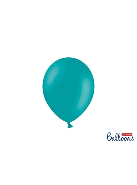 100 balões extra resistentes  azul celeste metalizado (23 cm)
