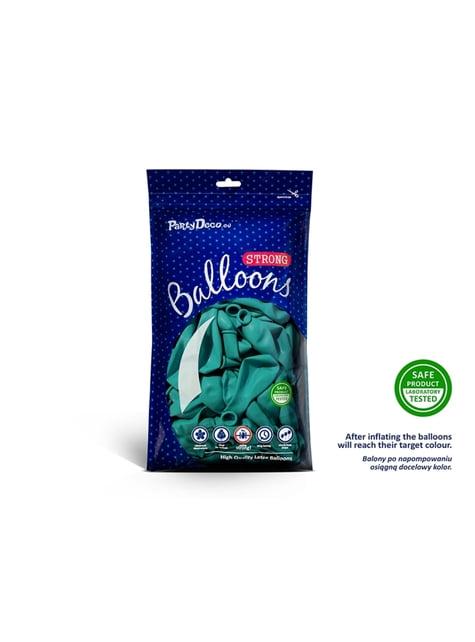 100 Luftballons extra stark metallic-himmelblau (23 cm)