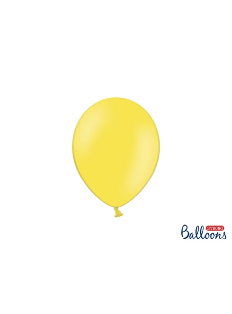 50 balões extra resistentes amarelo claro pastel (23 cm)