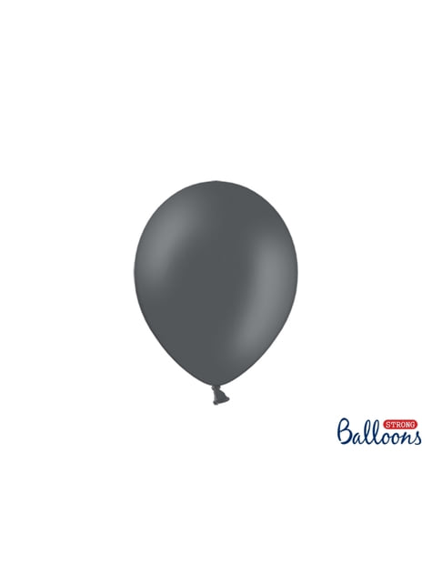 50 extra silných balonků metalicky pastelově šedých (23 cm)