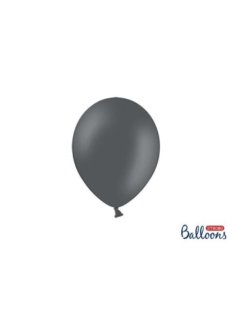 50 globos extra resistentes gris pastel metalizado (23 cm)