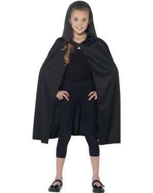 Lang svart kappe til barn
