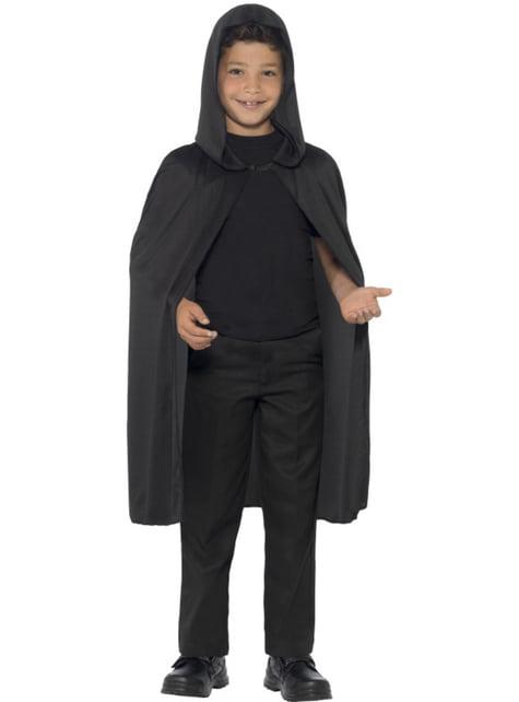 Capa negra y larga infantil - para tu disfraz