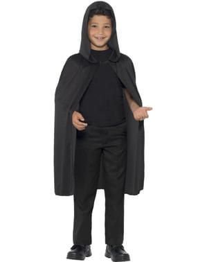 Umhang für Kinder schwarz und lang