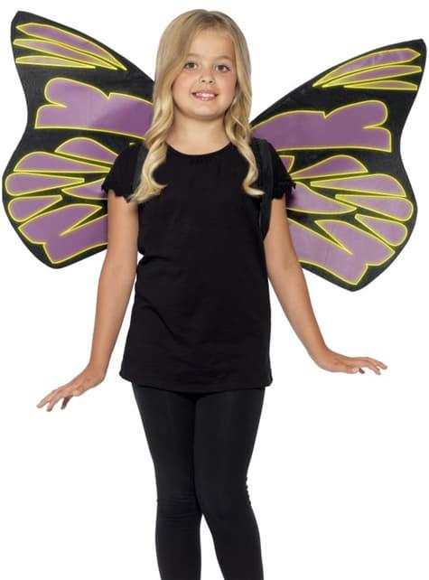 Alas de mariposa brillante para niña