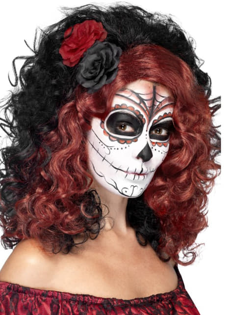 Day of the dead wig for a woman