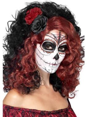 Perruque bicolore jour des morts femme