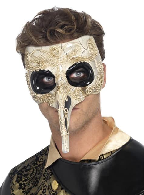 Máscara veneciana del Doctor de la Plaga para hombre