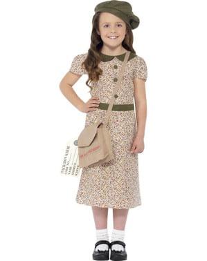 Evakueret fra krigen kostume til piger