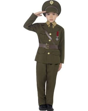 Hær Kaptein Kostyme Gutt