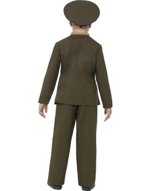 Kontorassistent ved hæren kostume til børn