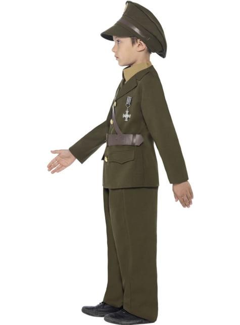 Disfraz de Capitán del ejército para niño - original