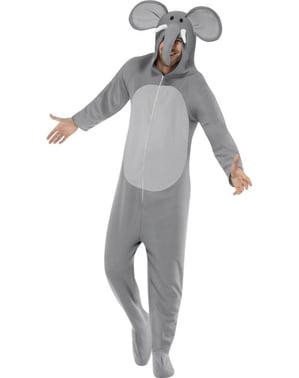 Costume da elefante alla moda da adulto