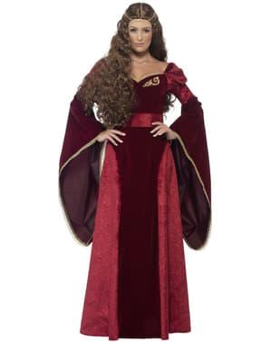 Mittelalterliche Königin Kostüm für Damen Classic