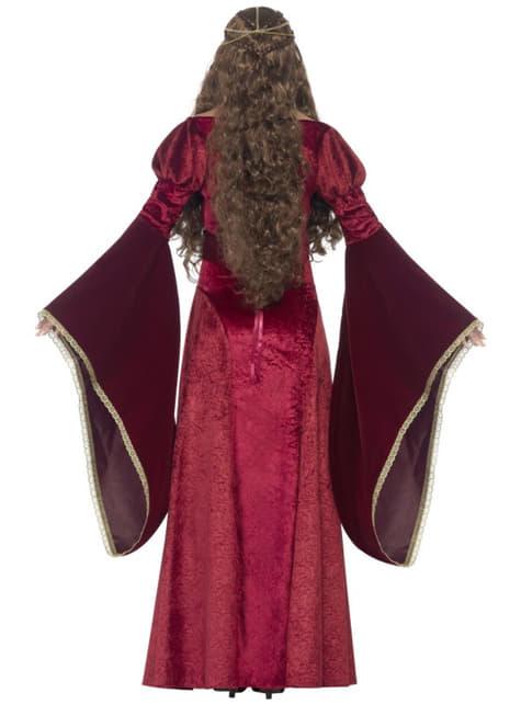 Naisten Keskiaikainen Kuningatar -asu