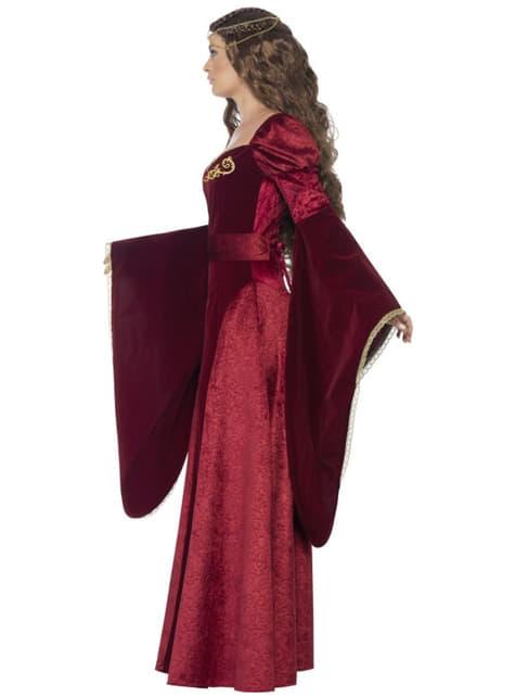 Fato de rainha medieval para mulher