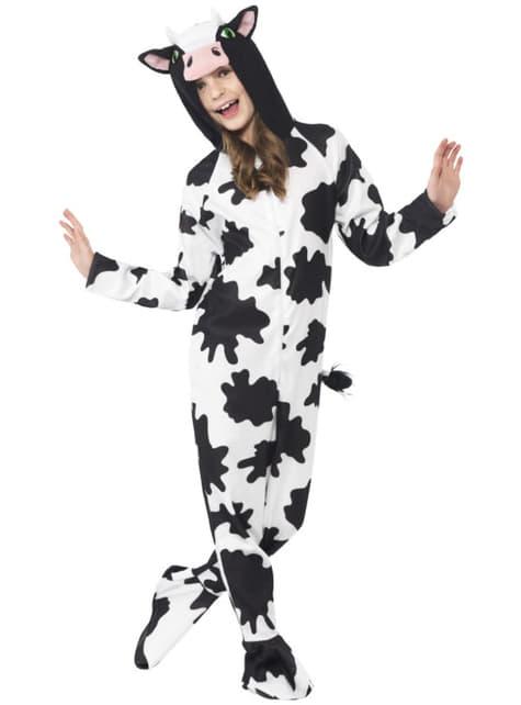 Disfraz de vaca divertida para niña.