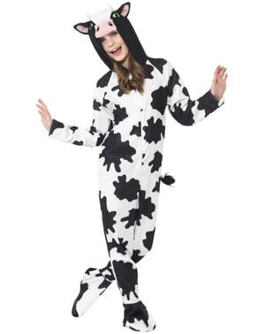 Costum de vacă haioasă pentru fată.