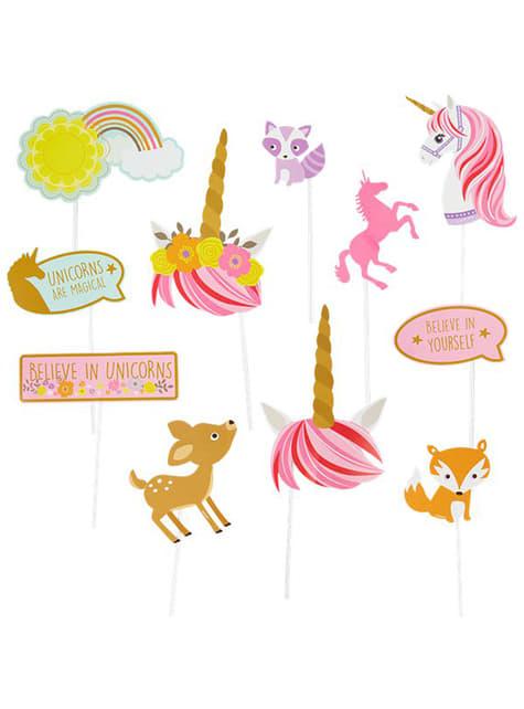 12 Eenhoorn Prinsessen fotohokje accessoires