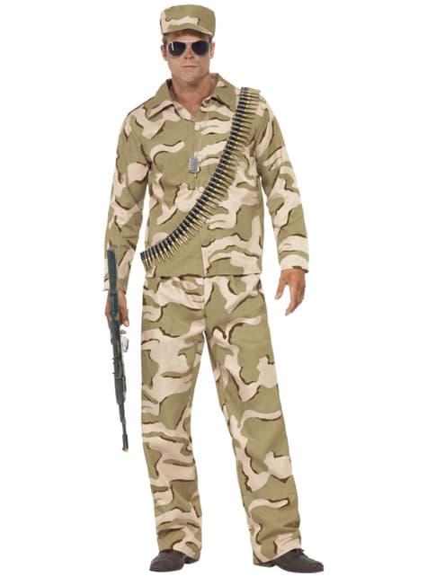 Disfraz de hombre comando para hombre
