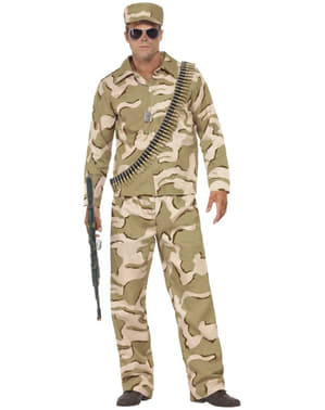 Mens Commando Man Costume
