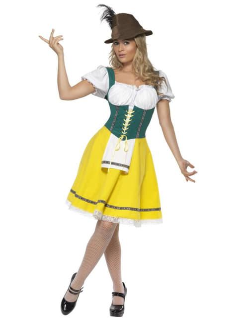 Disfraz Oktoberfest amarillo y verde para mujer - mujer