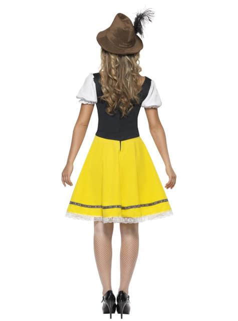 Disfraz Oktoberfest amarillo y verde para mujer - original