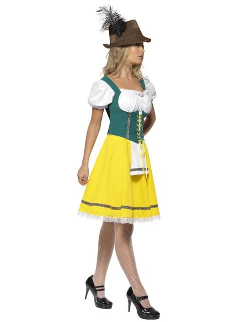 תחפושת אוקטוברפסט צהובה וירוקה לנשים