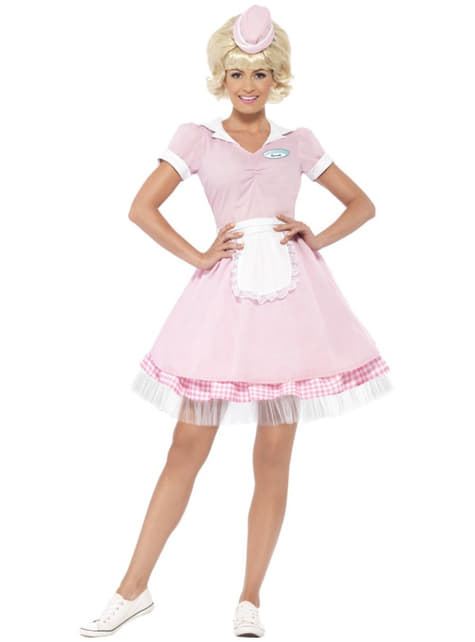Womens Retro Waitress Costume