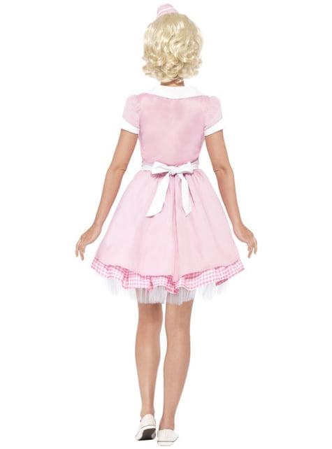 Disfraz de camarera años 50 - mujer