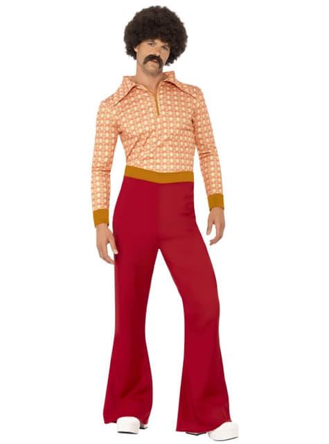 Fato homem festeiro dos anos 70 para homem