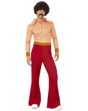 Festglad mand fra 70'erne kostume til mænd