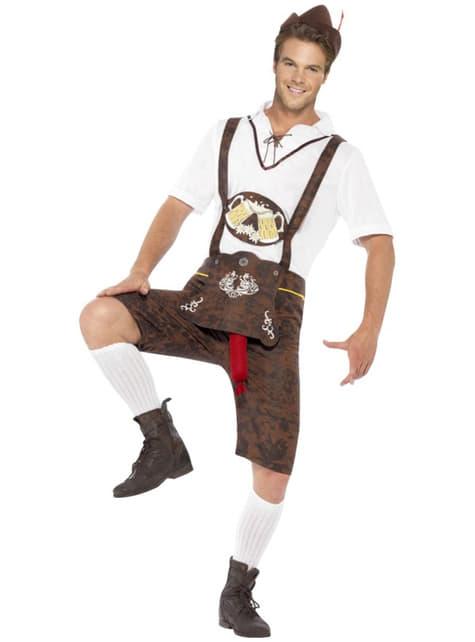 Fato bávaro com surpresa para Oktoberfest